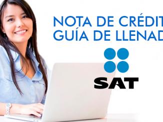 Nota de Crédito - Guía de llenado SAT
