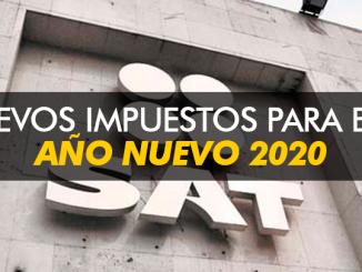 Nuevos impuestos para este año nuevo 2020