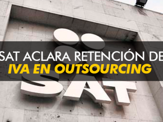 SAT aclara retención del IVA en Outsourcing