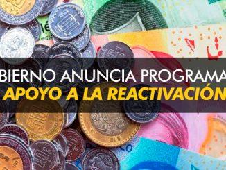 Gobierno anuncia Programa en apoyo a la reactivación