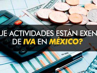 ¿Que actividades están exentas de IVA en México?
